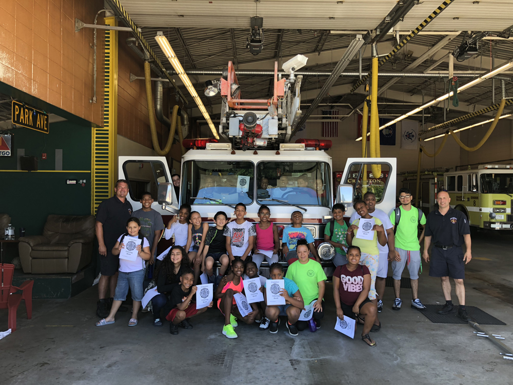 2018 Summer camp at the cranston fire department